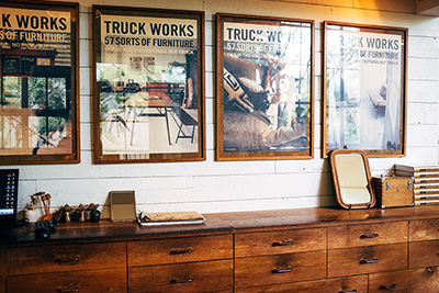 Front cover of the TRUCK Publication framed and placed on the showroom walls.