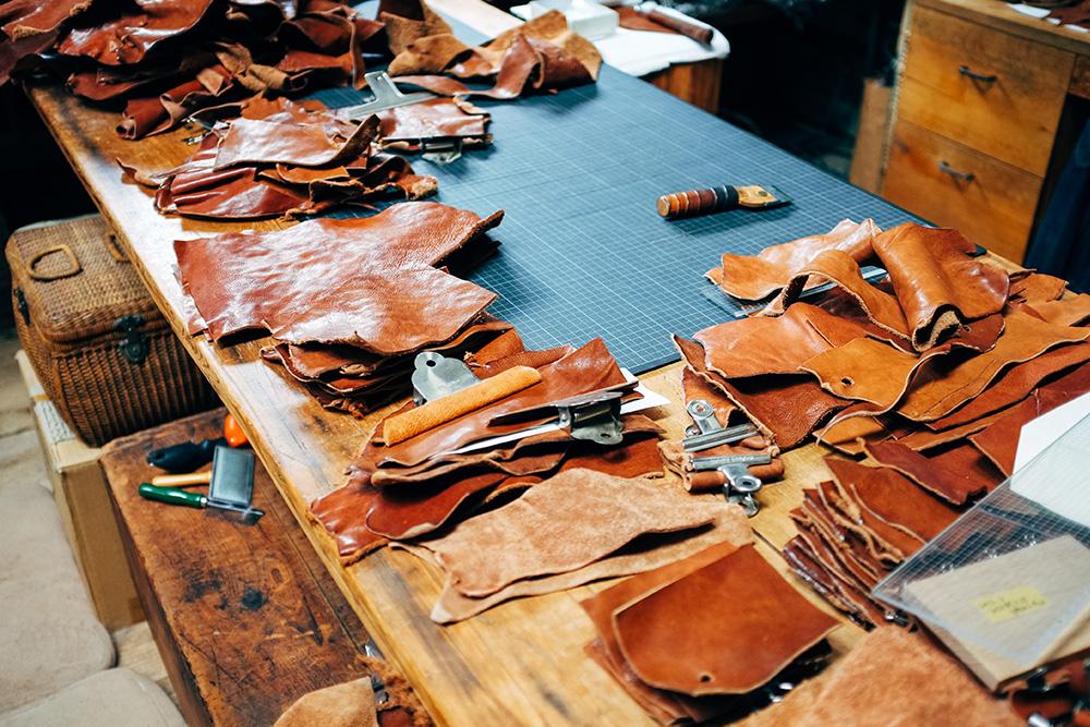 Leather workshop Atelier Shirokumasha at the back of the TRUCK property.