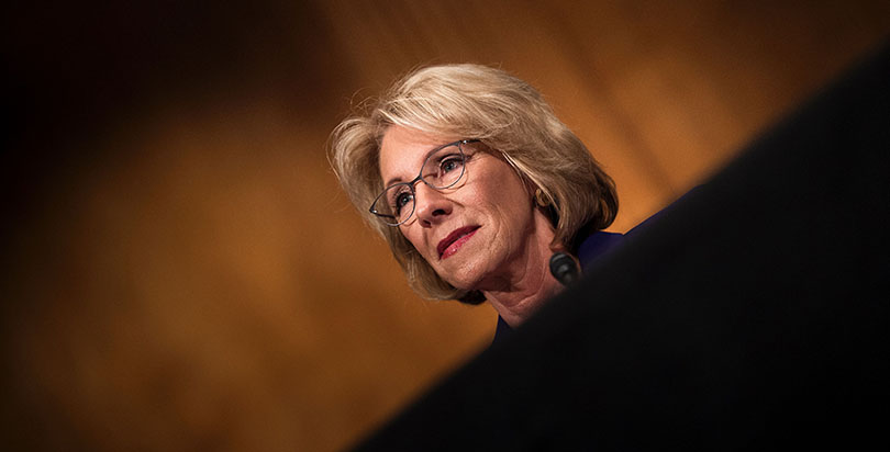 Sexual Assault Survivors Say Betsy DeVos' Stance on Title IX Is 'Traumatizing'