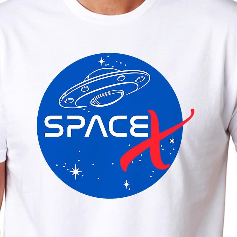 Space X Dragon Spacecraft Logo Elon Musk T Shirt