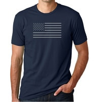 - American Czar - Celebrate the USA with this beautiful minimalist American Flag.