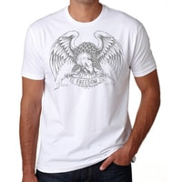- American Czar - What can we say. It's the iconic American Eagle holding a Freedom Banner! This heritage style design is just beautiful and iconic.