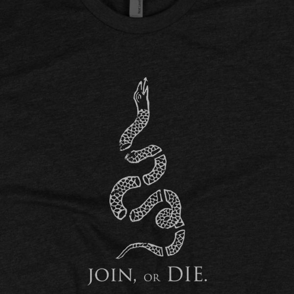 - American Czar - <p>This shirt features our take on the Join or Die snake graphic based upon the cartoon drawn by Benjamin Franklin to during the American Revolution. This graphic expressed the importance of</p>