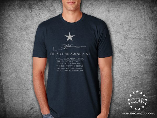 - American Czar - 2nd Amendment Plain and Simple. This high quality super soft tee displays the 2nd Amendment text underneath a single star. Wonderful design. Clean and Simple.