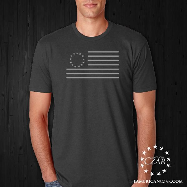 - American Czar - Celebrate the USA with this beautiful minimalist Betsy Ross Edition American Flag.