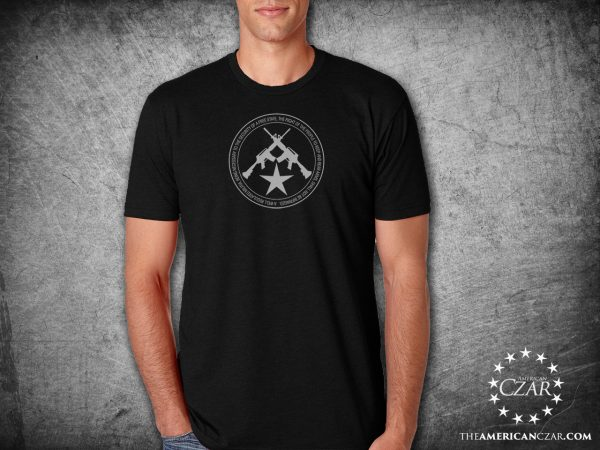 - American Czar - 2nd Amendment Plain and Simple. This high-quality super-soft tee displays the 2nd Amendment around a pair of crossed rifles and a star.
