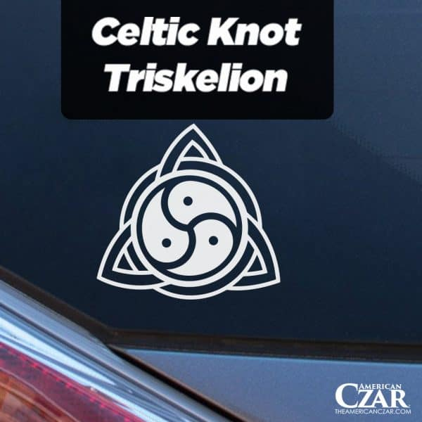 Celtic Knot - American Czar - Limited Run Celtic Knot Triskelion Vinyl Decal.