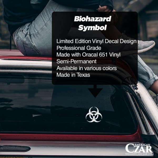 Biohazard - American Czar - Limited Run Biohazard Vinyl Decal.