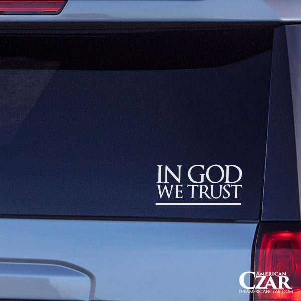 In God We Trust - American Czar - 'In God We Trust' is more than just our national motto – it's our foundation and identity as Americans.