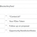 Automatically change Next Action information on Opportunity records