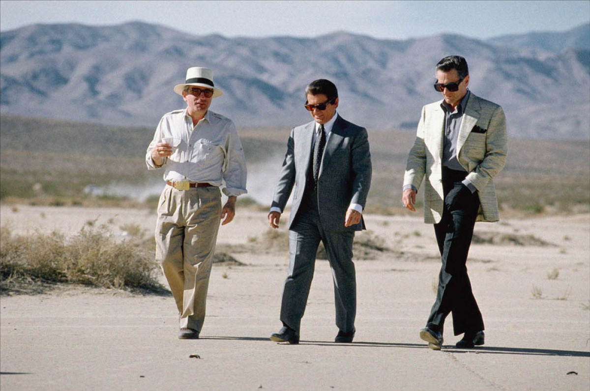 From left, Scorsese, Pesci and DeNiro solve some production problems out in the desert.