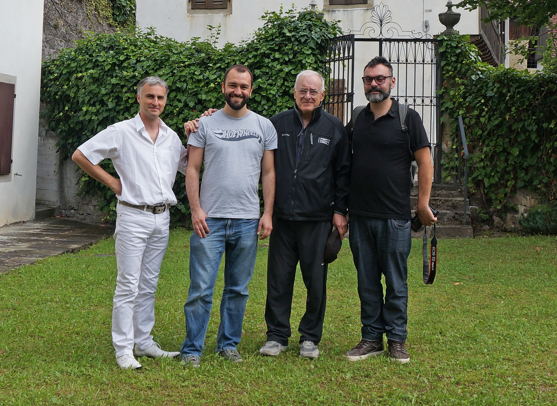 The production's first Italian crew, with Dante Spinotti, ASC, AIC (second from right). Photo Marcella Spinotti