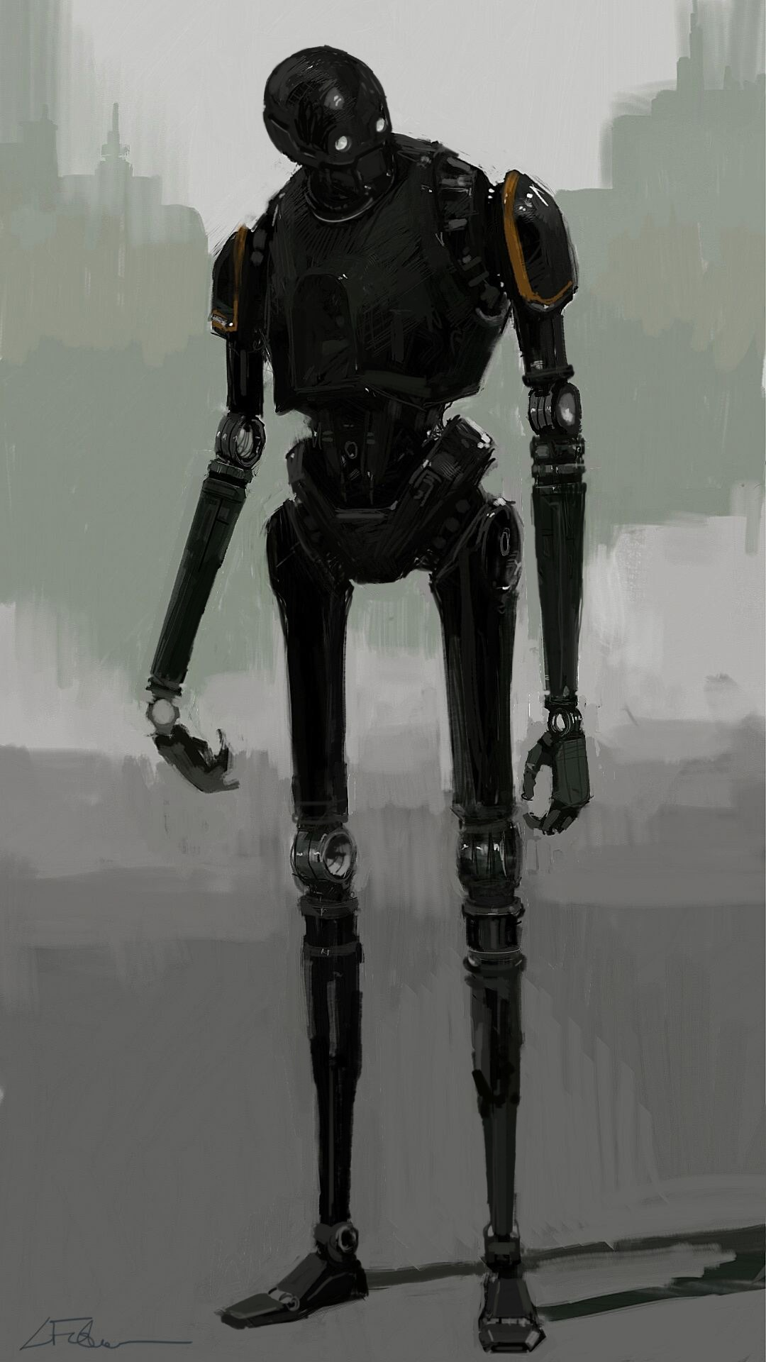 """K-2SO Concept Version 1A,"" by creature concept designer and senior sculptor Luke Fisher."