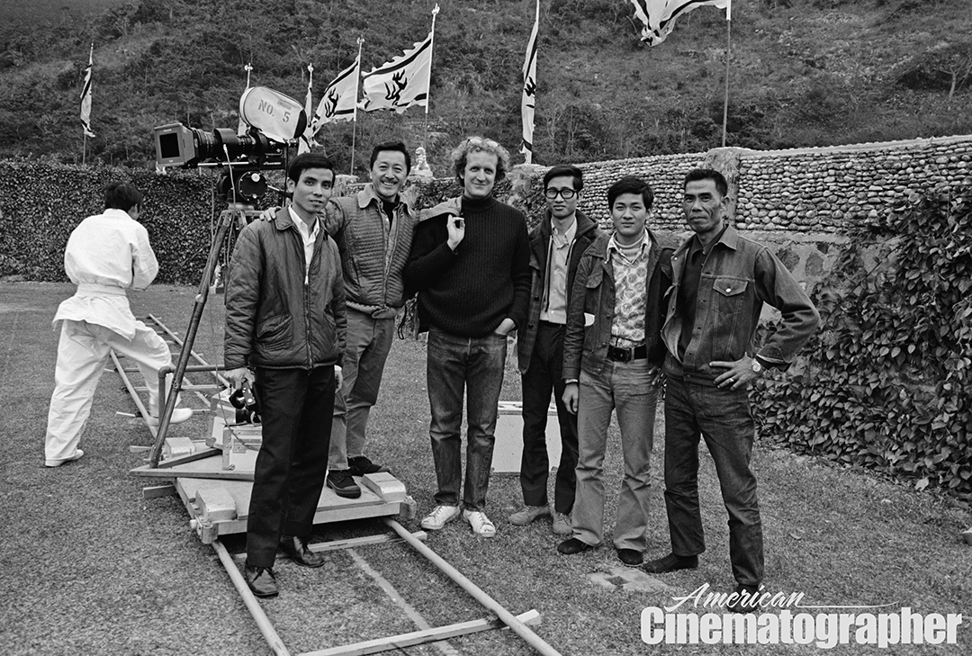 Hubbs and his Chinese camera crew, which served him well — especially second cameraman Charles Lowe (second from left) who handled the B unit.