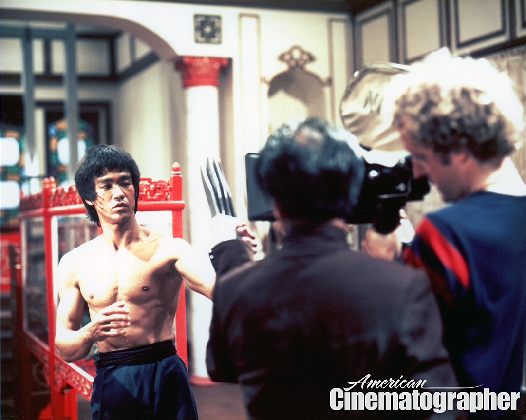 Lee gingerly positions the four-bladed prosthetic hand wielded by the nefarious Mr. Han (played by Chinese martial arts movie veteran Kien Shih) as Hubbs frames up a POV shot. The film frequently uses such coverage to put the viewer into the action.