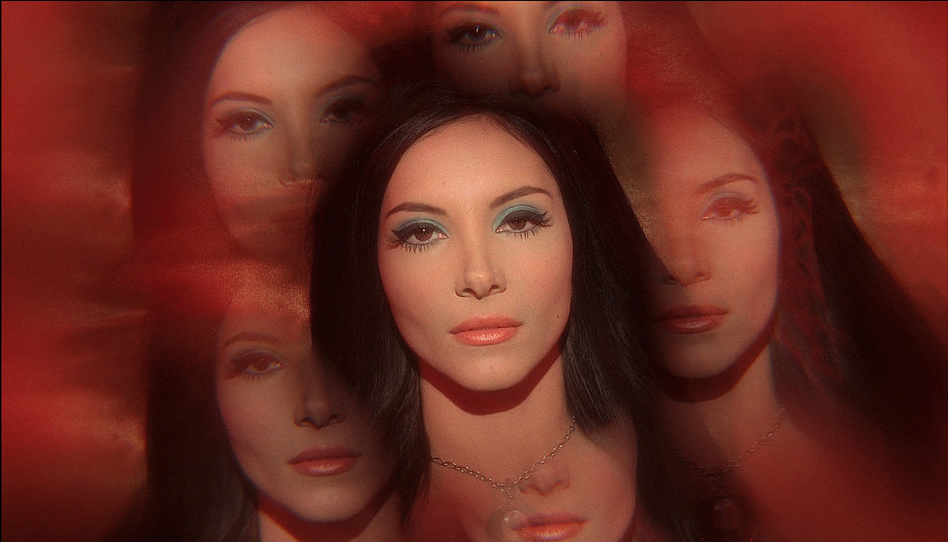 A mesmerizing image of Elaine (actress Samantha Robinson), from The Love Witch.