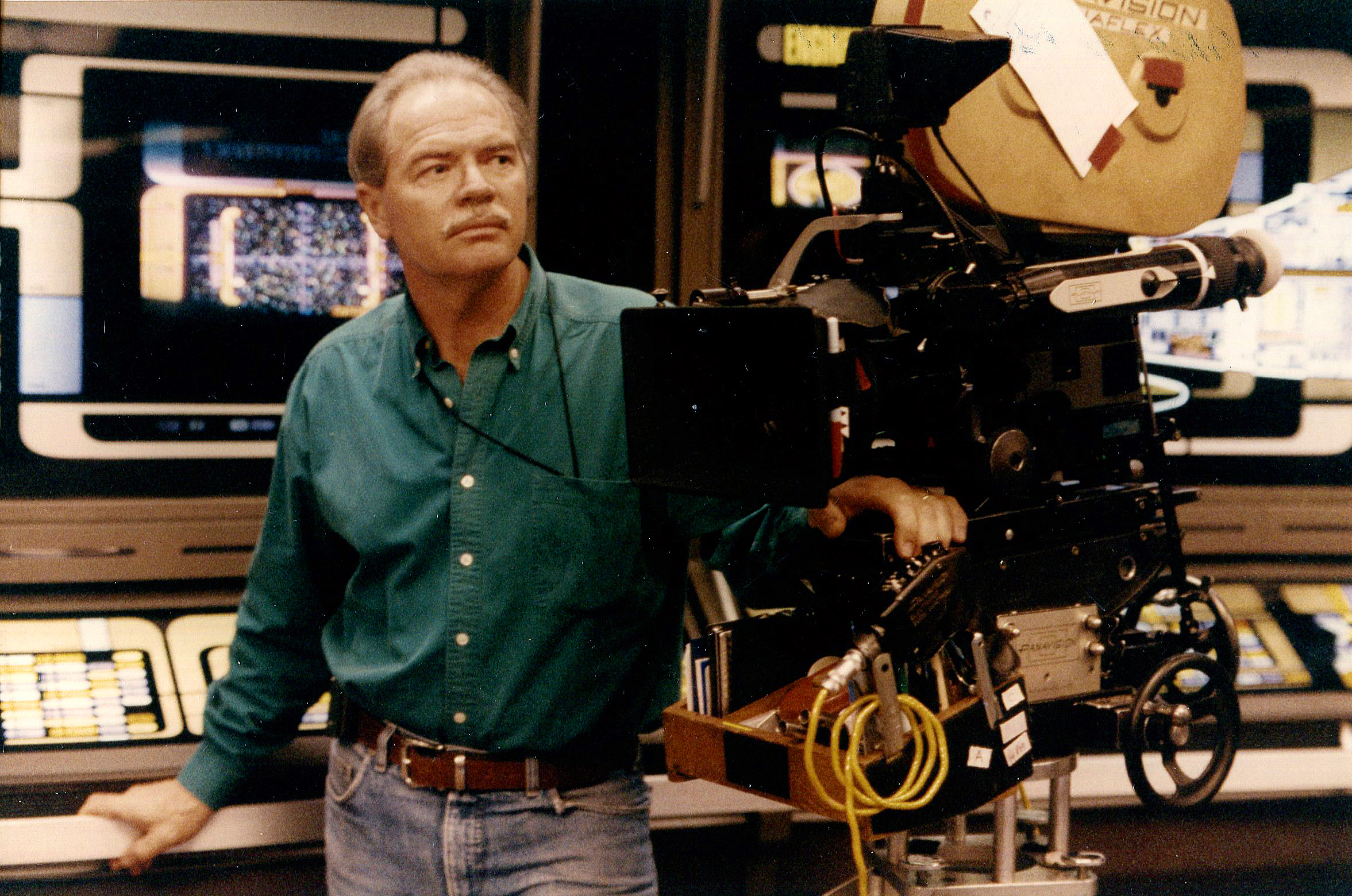 Marvin V. Rush, ASC on the set of Star Trek: The Next Generation in 1995