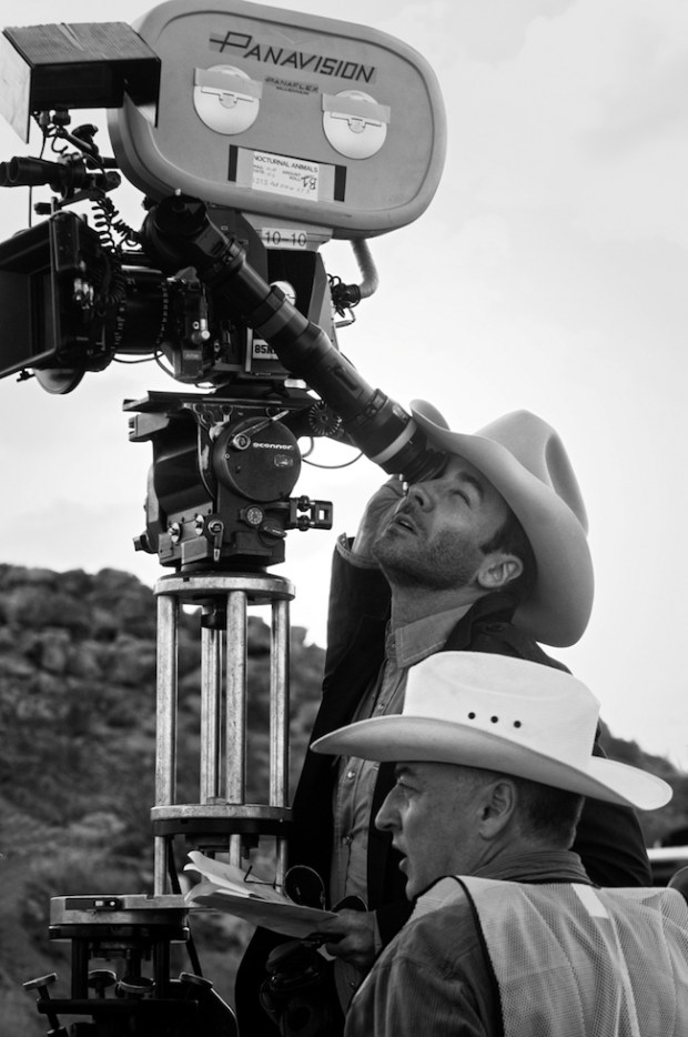 Shooting Nocturnal Animals on location, writer-director Tom Ford takes a turn at the eyepiece while McGarvey stands by.