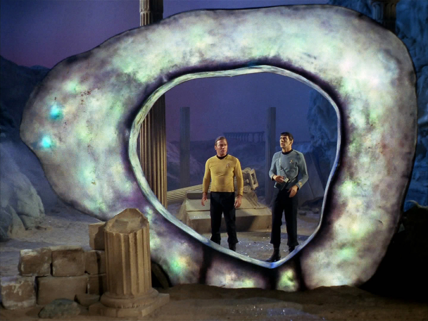 "Finnerman's 60 Trek episodes include the fan faves ""The City on the Edge of Forever"" (above) and ""The Devil in the Dark"" (below)."