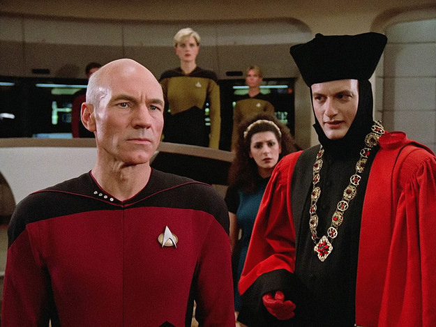 "From the Next Generation pilot ""Encounter at Farpoint,"" photographed by Edward R. Brown, ASC."