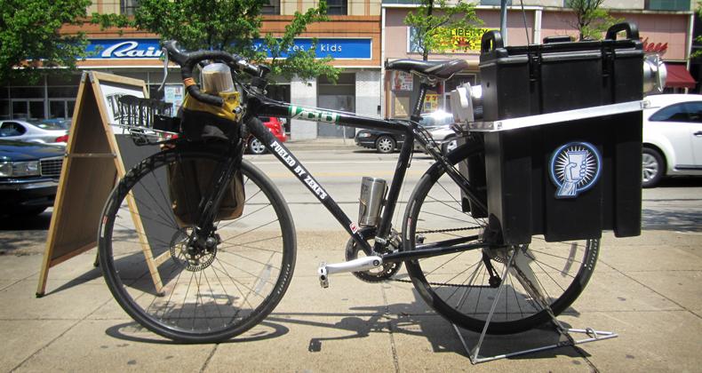 Zekes Blue Collar Coffee Cab bike