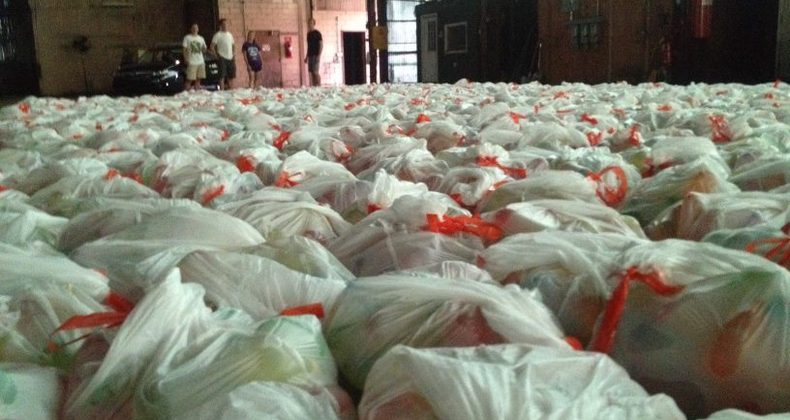 Water balloons accumulate in a warehouse
