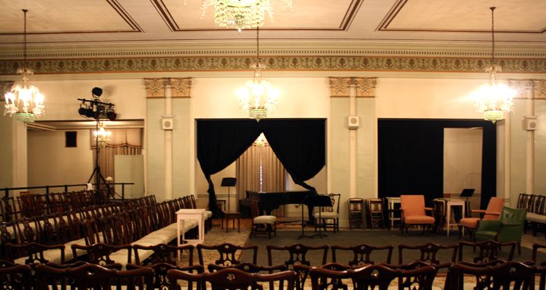 The 139-seat Beaux Arts Ballroom at the Twentieth Century Club, during rehearsals for Summerfest 2013