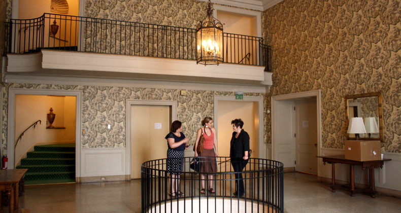 Lynette Asson and Yvonne Hudson with mezzo-soprano Kara Cornell of New Place Collaborations at the Twentieth Century Club