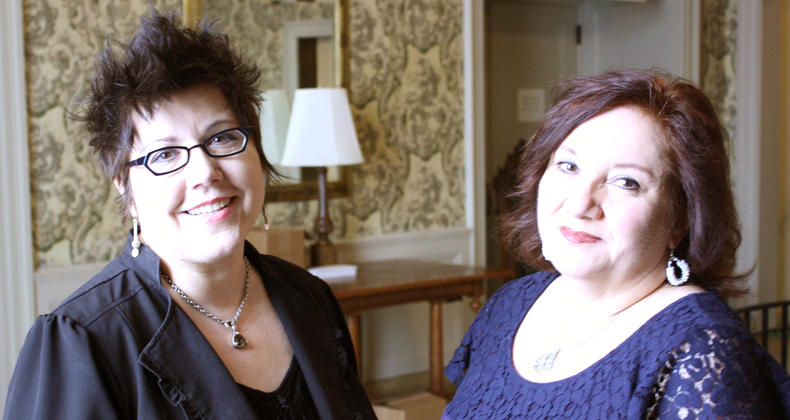 Lynette Asson with Yvonne Hudson of New Place Collaborations at the Twentieth Century Club