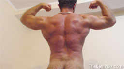 Hairy Muscle God Posing