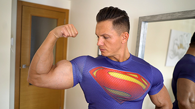 Superman Muscle Worship