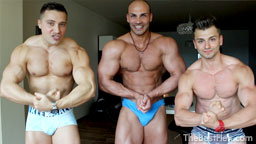 Three Hunks - Muscle Comparison