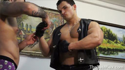 Leather Muscle Worship