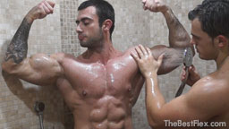 Muscle Worship Shower 2