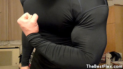 Huge Muscles In Tight Under Armour