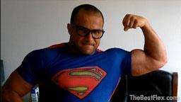Superman Flexing