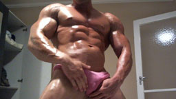 Oiled Up Muscle God