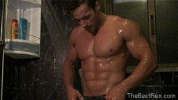 Sexy Shower Flexing