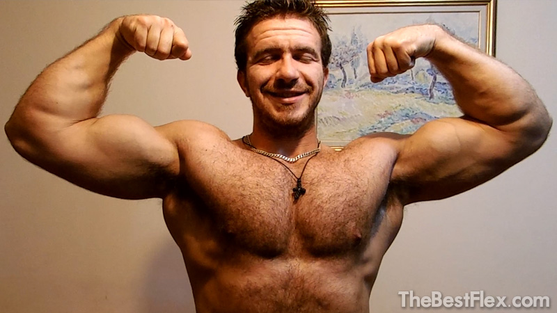 Hairy Muscle God Flexing