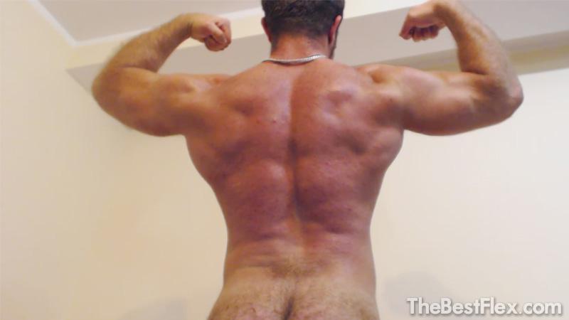 Hairy Muscle God Posing