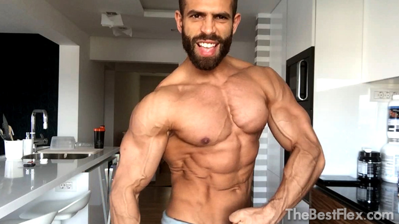 Ripped Muscle Flexing