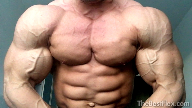 Shredded Young Bodybuilder