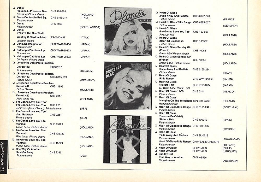 Spiral Scratch - The Best Of Blondie