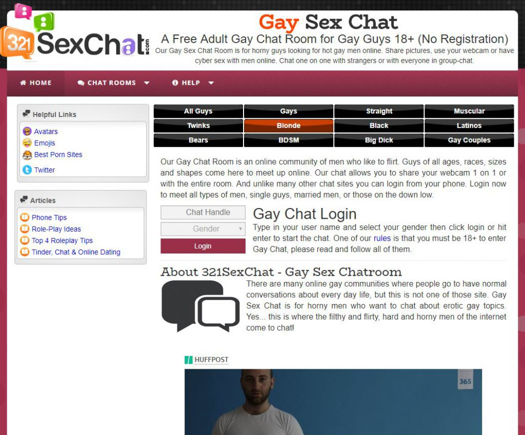 Adult gay bisexual chat room