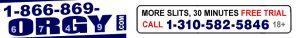 1-866-869-ORGY logo for lesbian phone sex