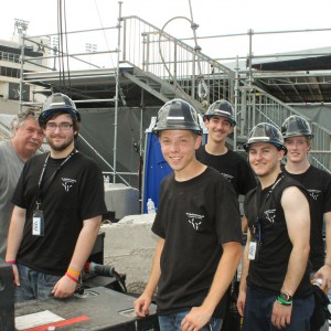 Students with engineer Mike Allison