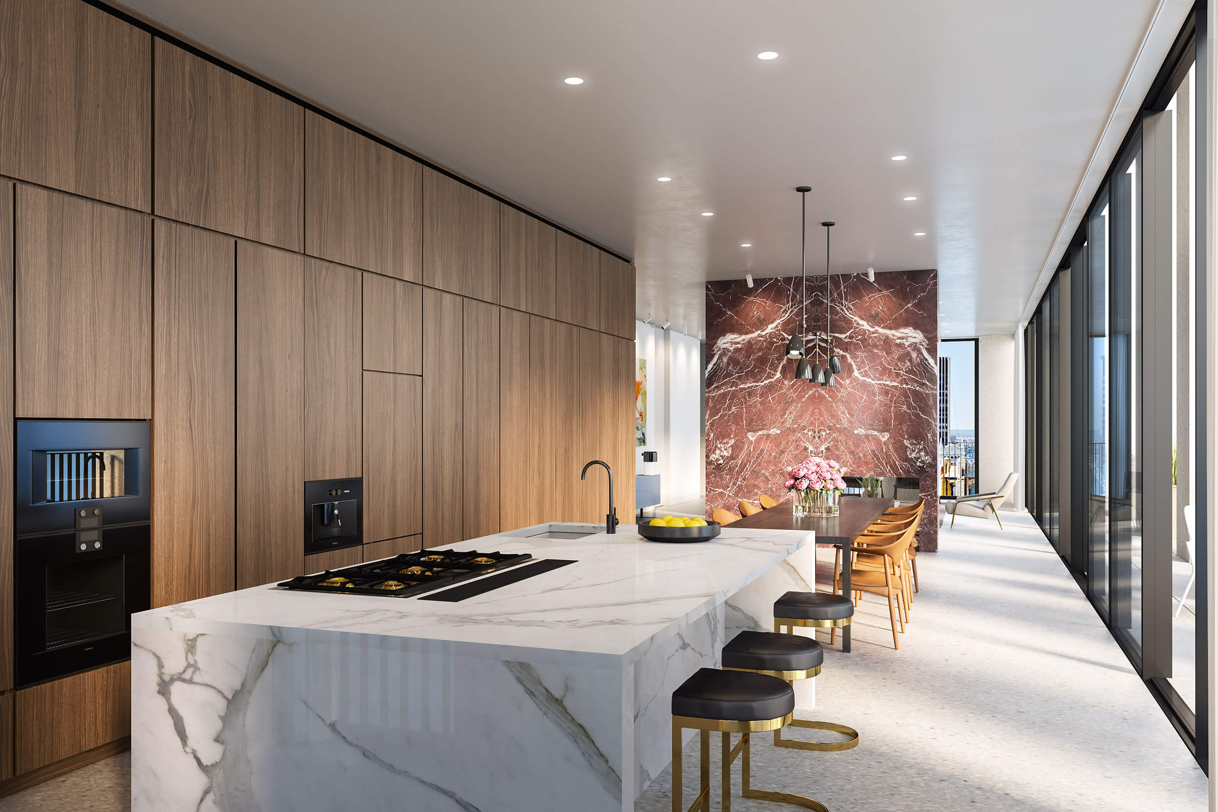 Midtown luxury condos penthouses the bryant residences for Top residential architects nyc