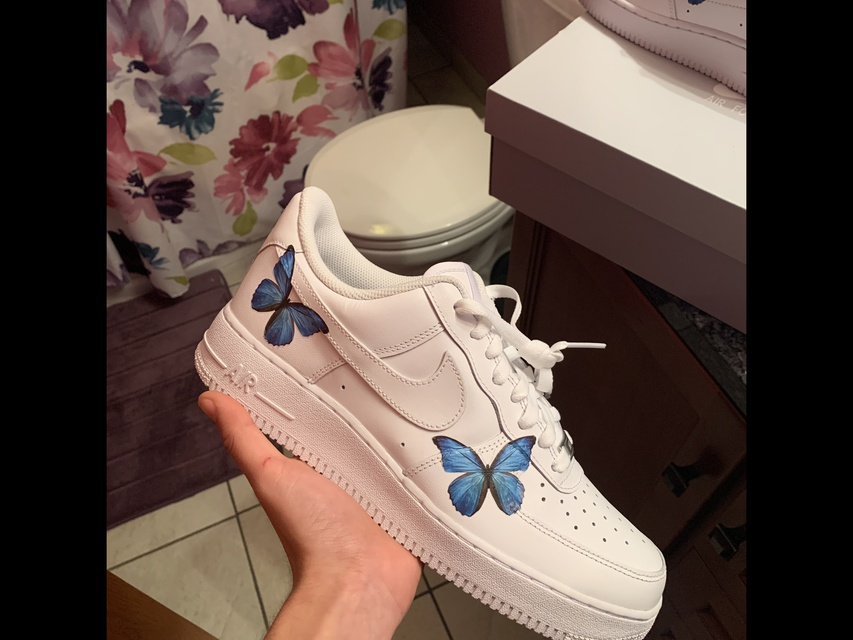 FTP Glow in the Dark (Blue) Air Force 1 DET TALE BEVEGELSE  THE CUSTOM MOVEMENT