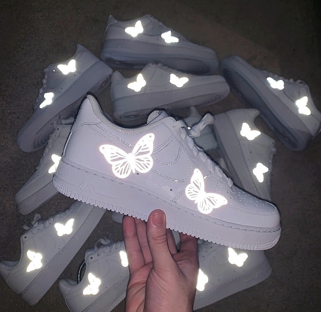 Reflective Butterfly Air Force 1 The Custom Movement