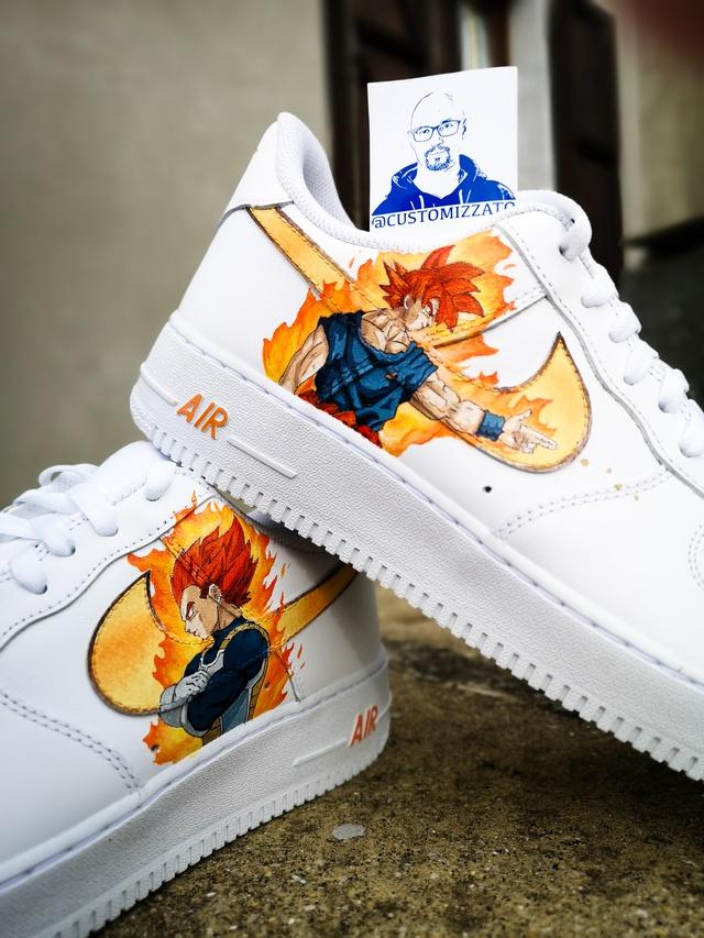 Custom Nike Air Forse ''Goku vs Vegeta